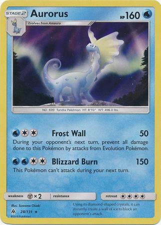 Aurorus - 28/131 - Forbidden Light - Holo - Card Cavern