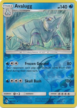 Avalugg - 30/131 - Forbidden Light - Reverse Holo - Card Cavern
