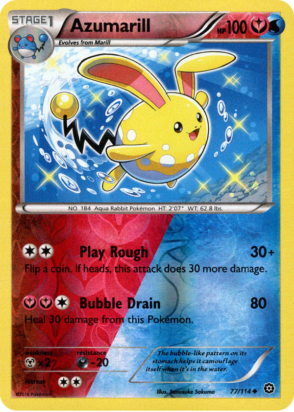 Azumarill - 77/114 - Steam Siege - Reverse Holo - Card Cavern