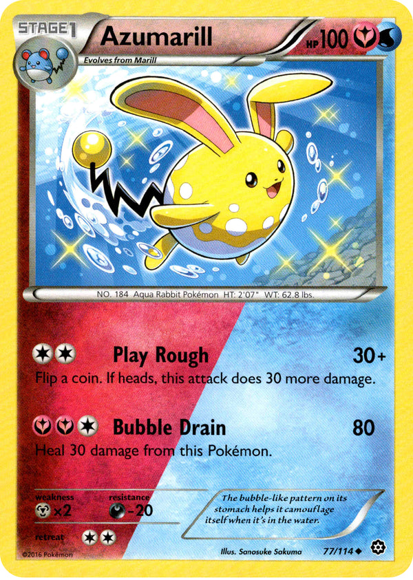 Azumarill - 77/114 - Steam Siege - Card Cavern