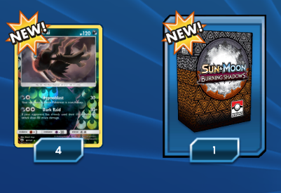 Burning Shadows League Season 1 PTCGO Code - Card Cavern