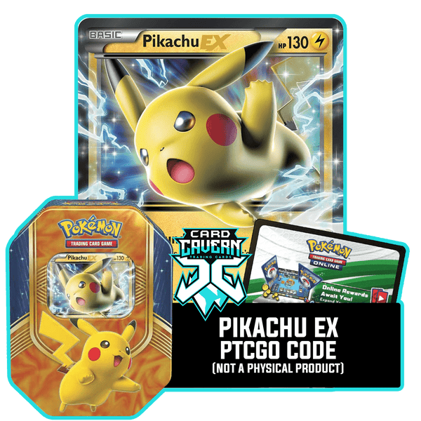 Battle Heart Tin: Pikachu EX - Thunder's Crash deck - PTCGO Code - Card Cavern