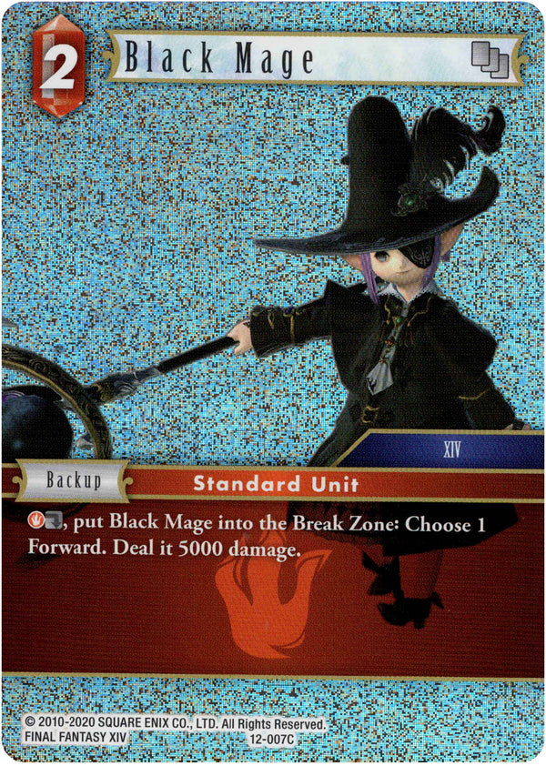 Black Mage - 12-007C - Opus XII - Foil - Card Cavern