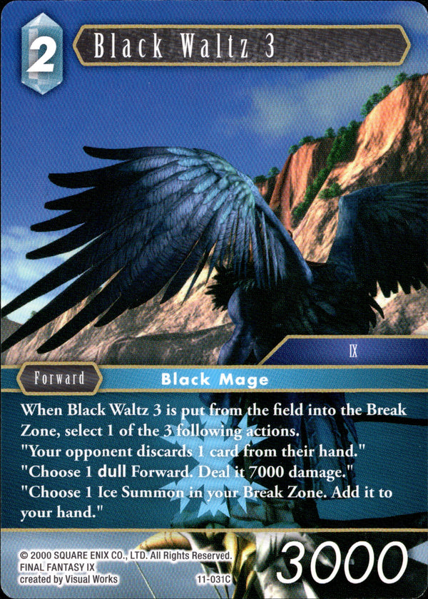 Black Waltz 3 - 11-031C - Opus XI - Card Cavern