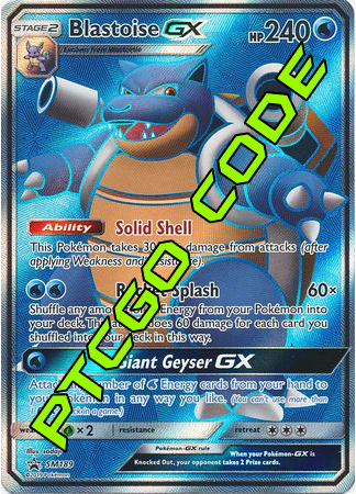 Blastoise GX Premium Collection - Promos - PTCGO Code - Card Cavern