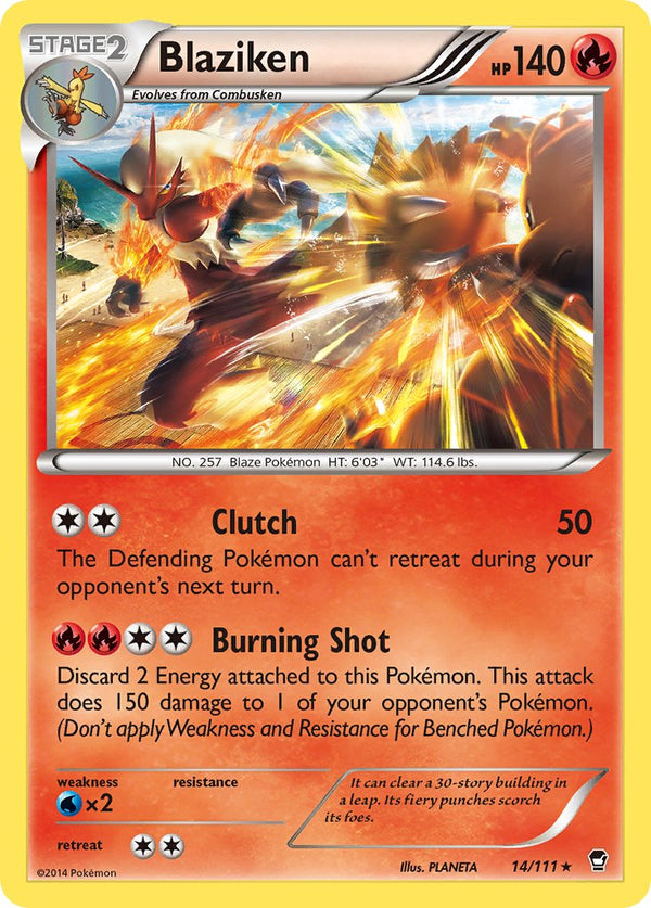 Blaziken - 14/111 - Furious Fists - Holo - Card Cavern