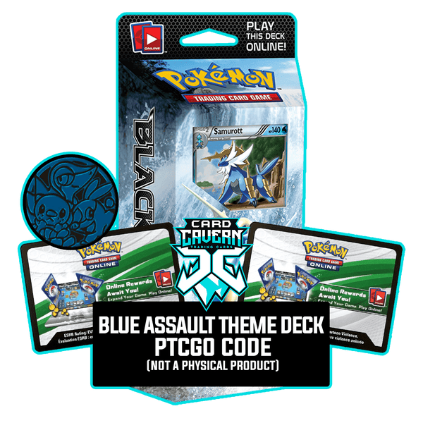 Blue Assault Theme Deck - Black & White - PTCGO Code - Card Cavern