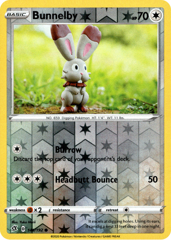 Bunnelby - 146/192 - Rebel Clash - Reverse Holo - Card Cavern