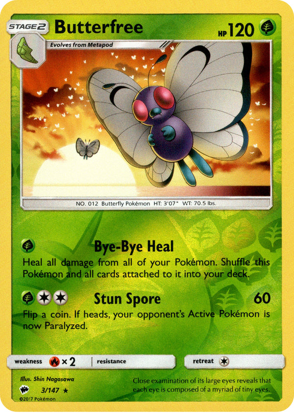 Butterfree - 3/147 - Burning Shadows - Reverse Holo - Card Cavern