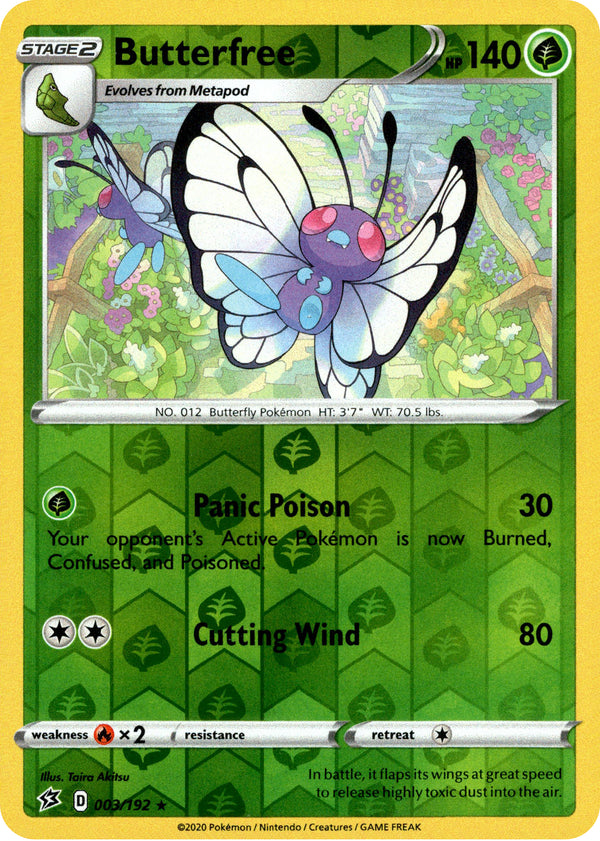 Butterfree - 3/192 - Rebel Clash - Reverse Holo - Card Cavern