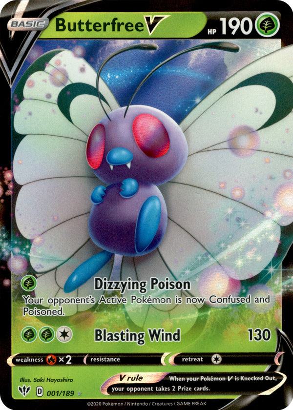 Butterfree V - 1/189 - Darkness Ablaze - Card Cavern