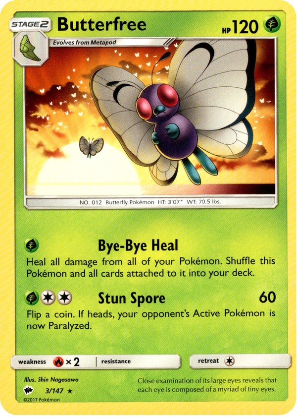 Butterfree - 3/147 - Burning Shadows - Card Cavern