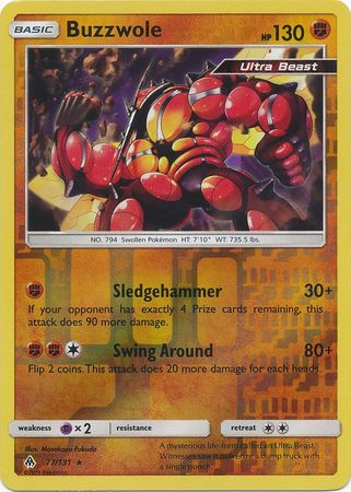 Buzzwole - 77/131 - Forbidden Light - Reverse Holo - Card Cavern