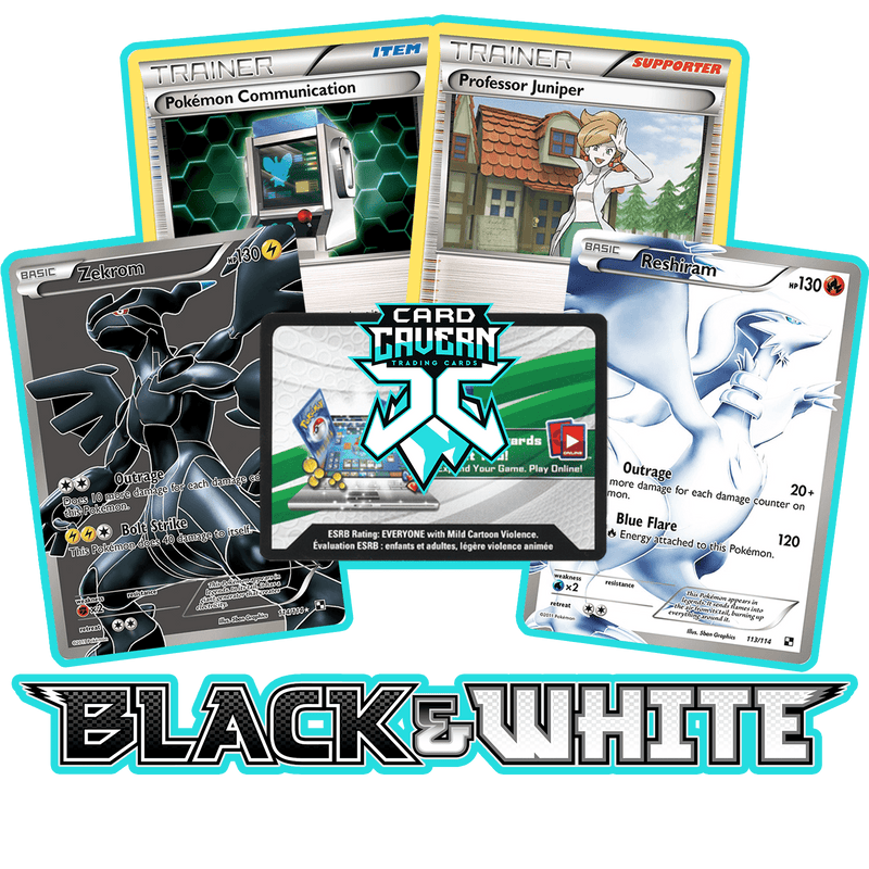 Black and White Base PTCGO Code - Card Cavern