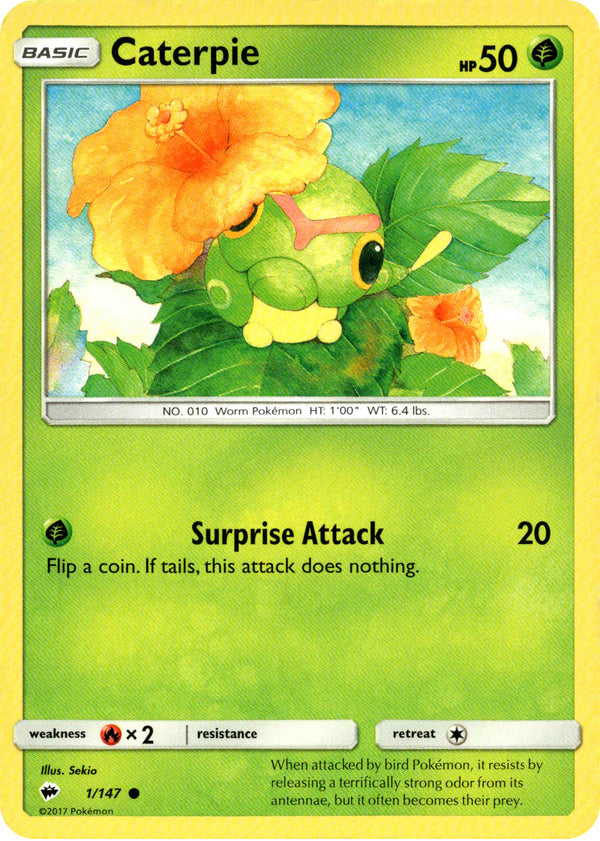 Caterpie - 1/147 - Burning Shadows - Card Cavern