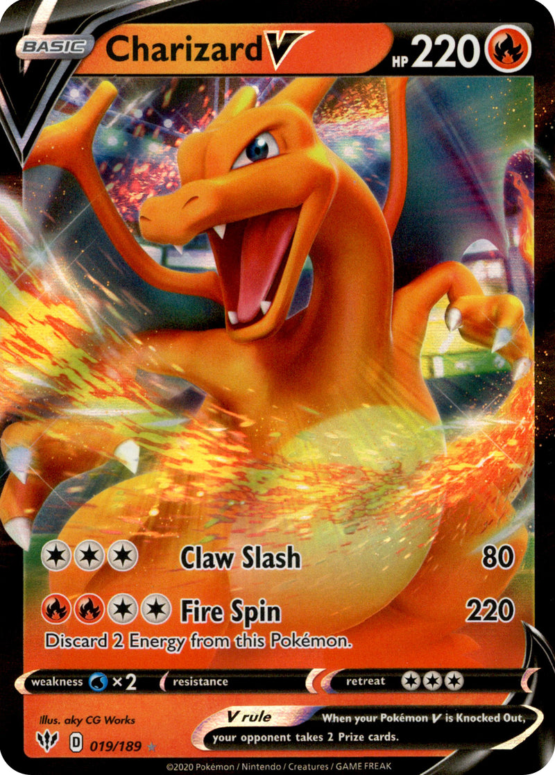 Charizard V - 19/189 - Darkness Ablaze - Card Cavern