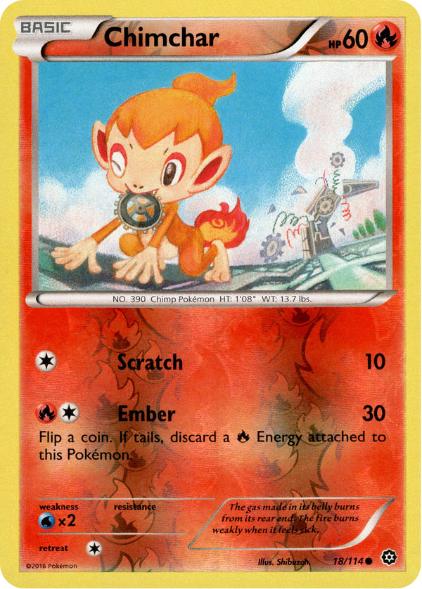 Chimchar - 18/114 - Steam Siege - Reverse Holo - Card Cavern