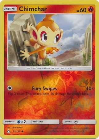 Chimchar - 21/156 - Ultra Prism - Reverse Holo - Card Cavern