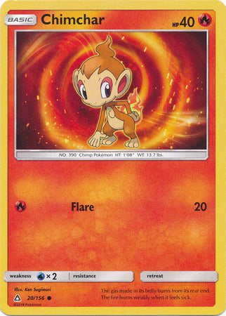Chimchar - 20/156 - Ultra Prism - Card Cavern