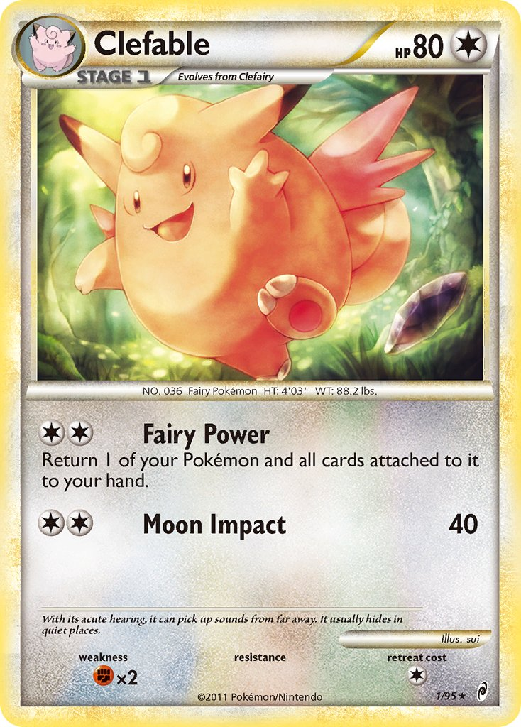 Clefable - 1/95 - Call of Legends - Holo - Card Cavern