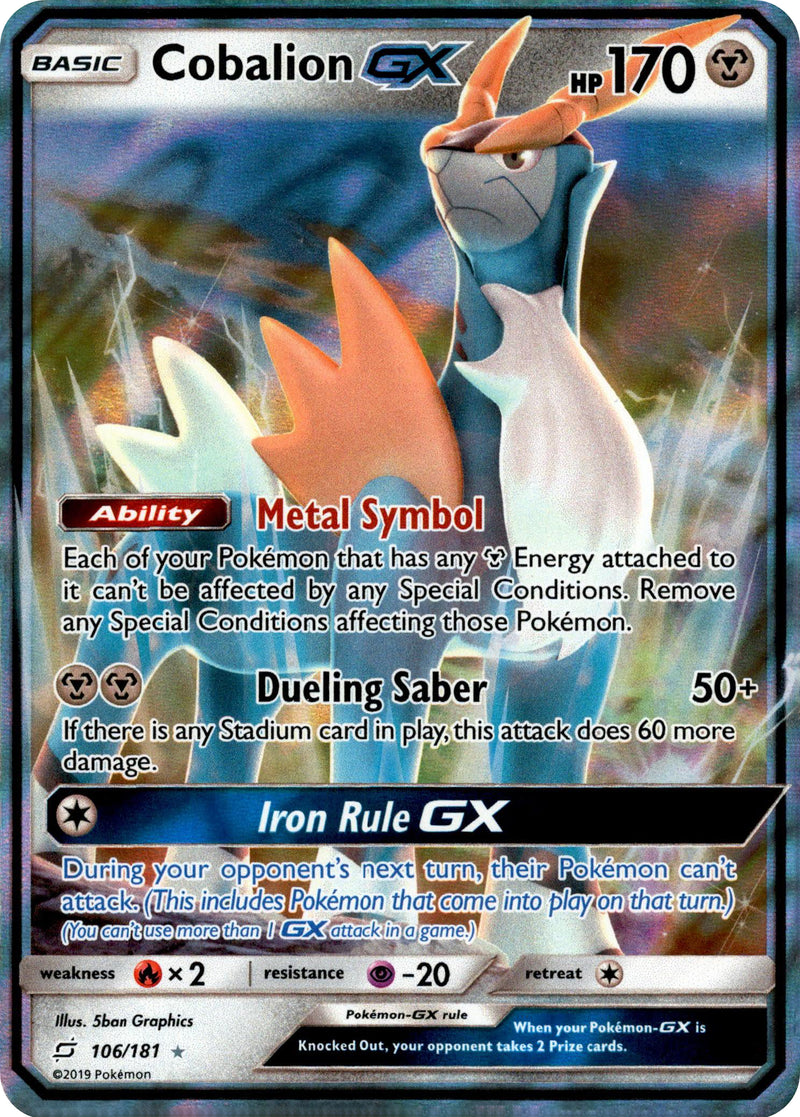 Cobalion GX - 106/181 - Team Up - Card Cavern