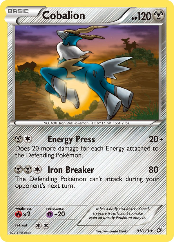 Cobalion - 91/113 - Legendary Treasures - Holo - Card Cavern