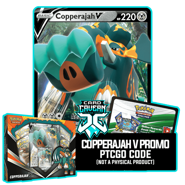 Copperajah V SWSH030 PTCGO Code - Card Cavern