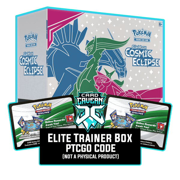 Cosmic Eclipse ETB - Arceus, Dialga & Palkia - Sleeves and Deck Box PTCGO Code - Card Cavern