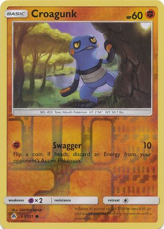 Croagunk - 63/131 - Forbidden Light - Reverse Holo - Card Cavern