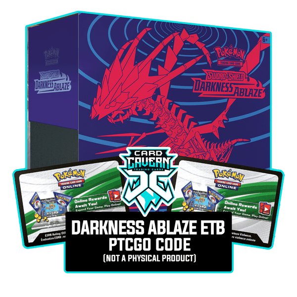 Darkness Ablaze ETB - Eternatus V - Sleeves and Deck Box PTCGO Code - Card Cavern