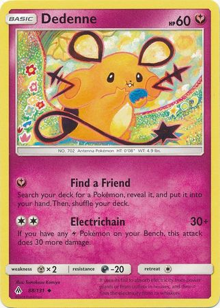 Dedenne - 88/131 - Forbidden Light - Card Cavern