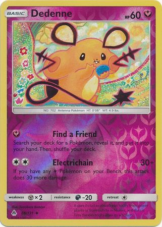 Dedenne - 88/131 - Forbidden Light - Reverse Holo - Card Cavern