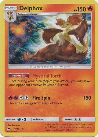 Delphox - 17/131 - Forbidden Light - Holo - Card Cavern