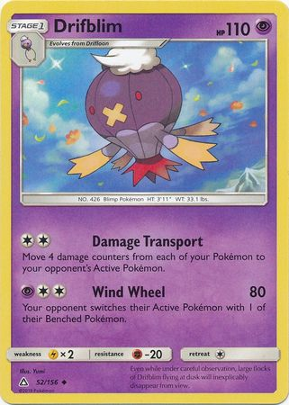 Drifblim - 52/156 - Ultra Prism - Card Cavern
