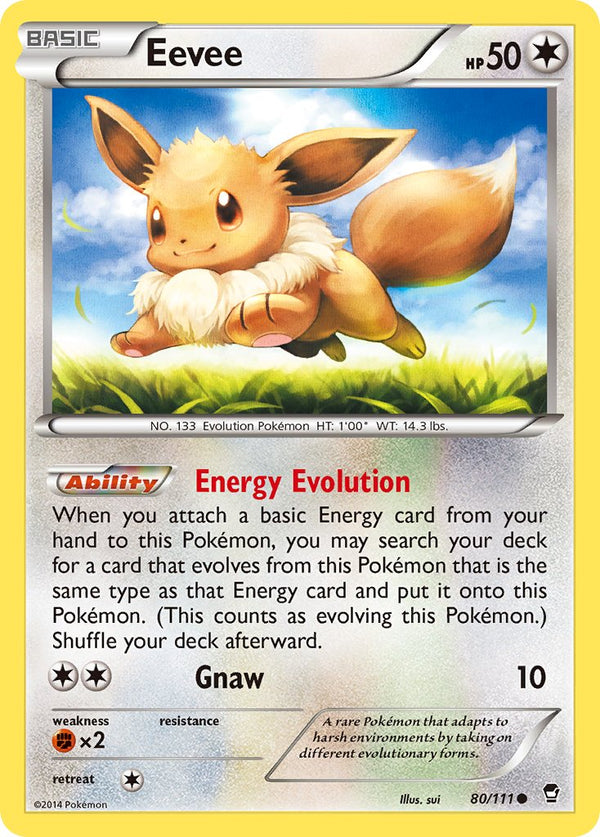 Eevee - 80/111 - Furious Fists - Card Cavern