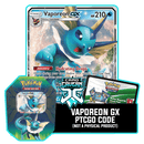 Elemental Power Tin: Vaporeon GX - PTCGO Code - Card Cavern