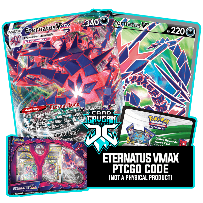 Eternatus VMax Premium Collection PTCGO Code - Card Cavern