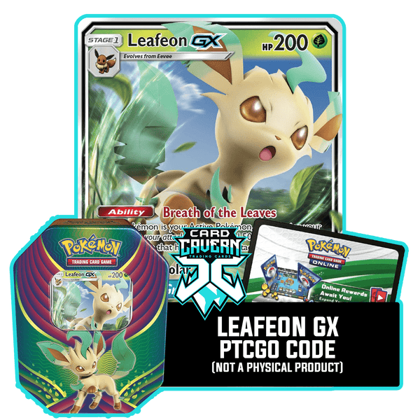 Evolution Celebration Tin: Leafeon GX - Green Wonder Deck - PTCGO Code - Card Cavern