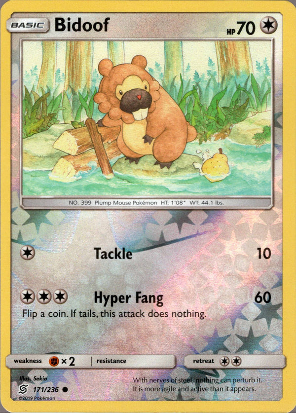Bidoof - 171/236 - Unified Minds - Reverse Holo - Card Cavern