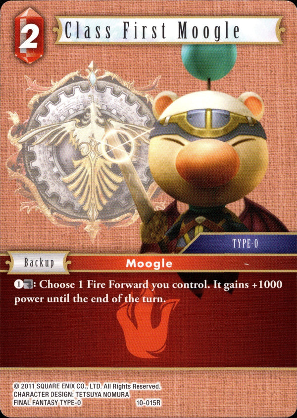Class First Moogle - 10-015R - Opus X - Card Cavern
