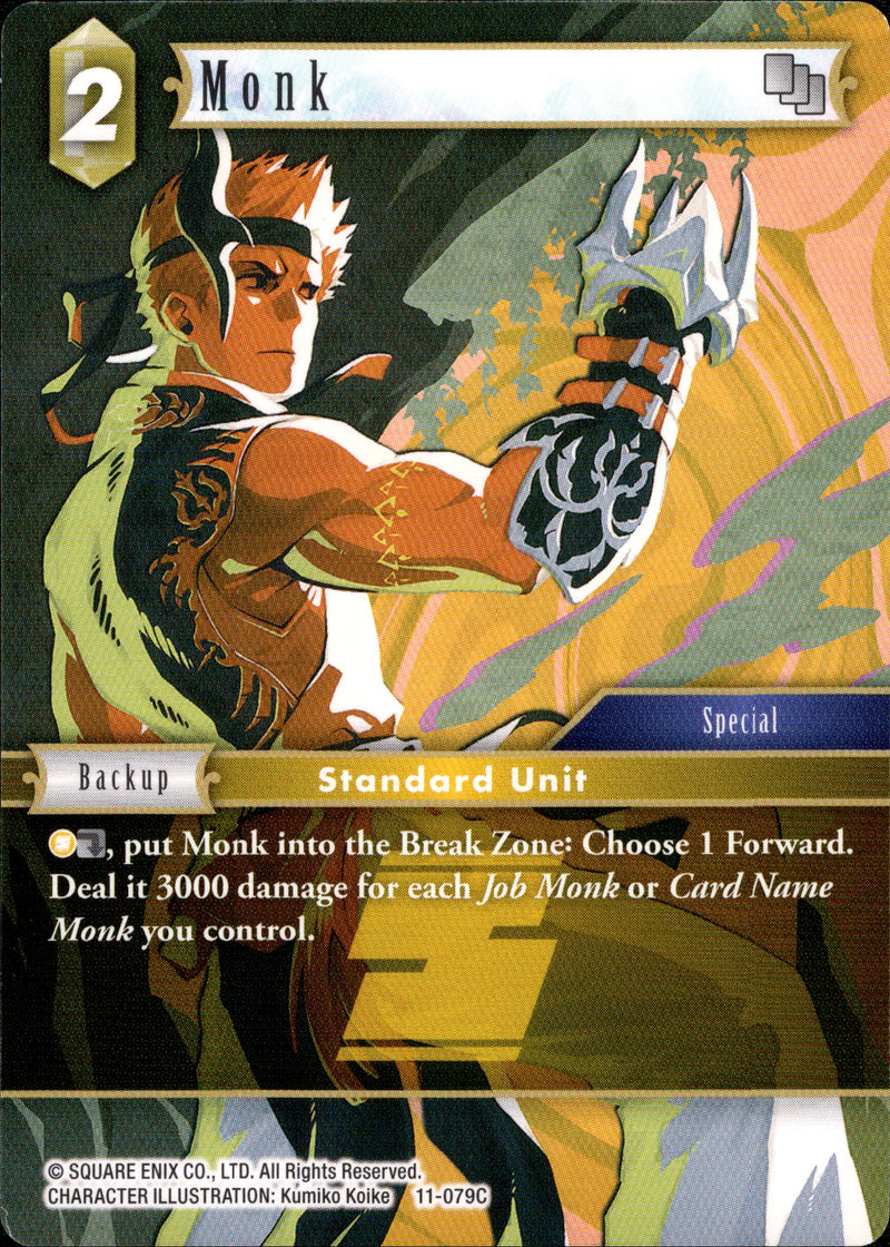 Monk - 11-079C - Opus XI - Card Cavern