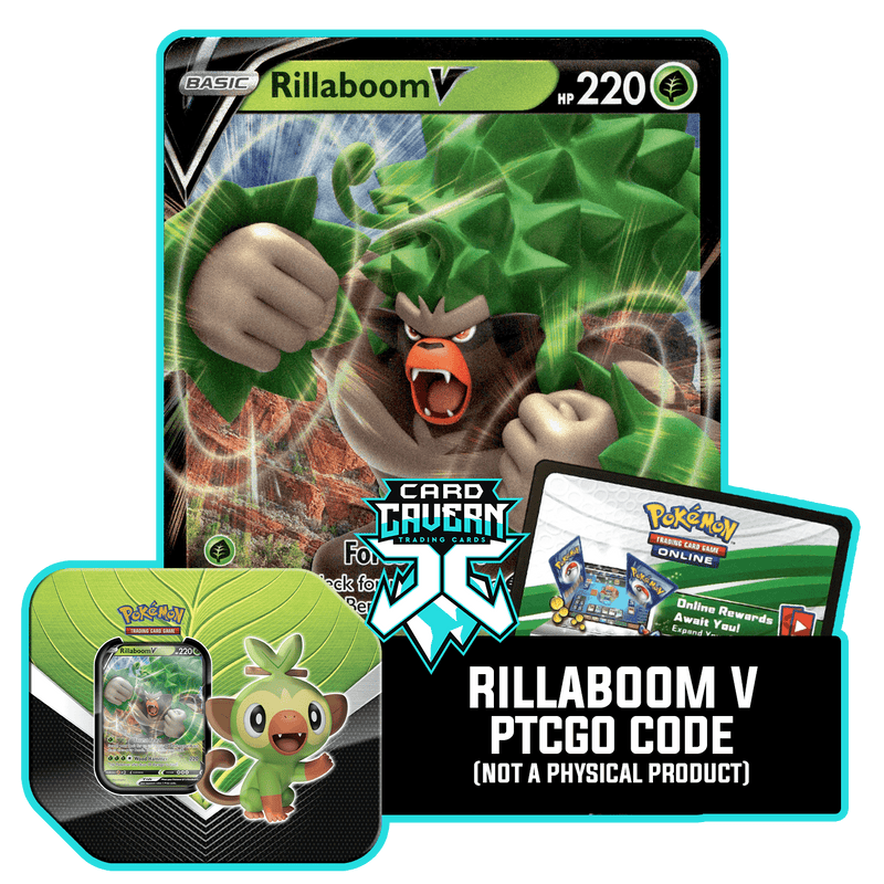 Galar Partners Tin:  Rillaboom V - PTCGO Code - Card Cavern