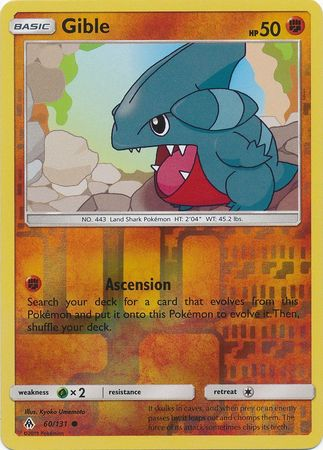 Gible - 60/131 - Forbidden Light - Reverse Holo - Card Cavern