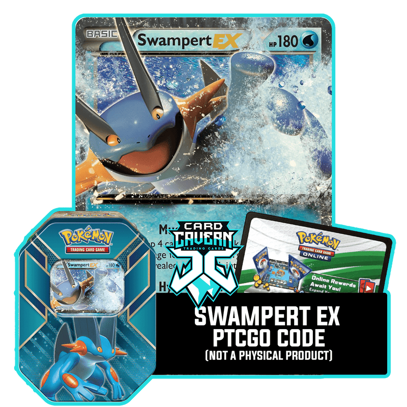 Hoenn Power Tin: Swampert EX - Hydro Stomper Deck - PTCGO Code - Card Cavern