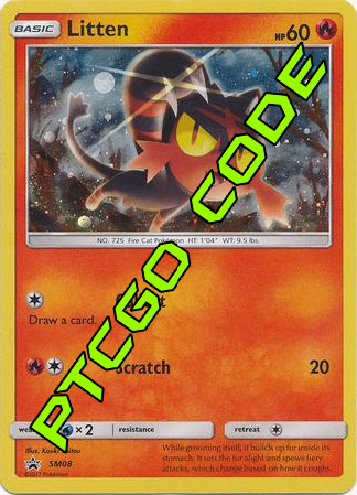 Litten SM08 PTCGO Code - Card Cavern
