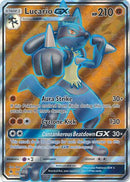 Lucario GX Full Art - 122/131 - Forbidden Light - Card Cavern