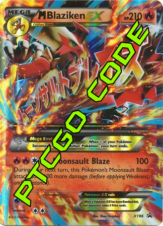 M Blaziken EX Premium Collection - Promos - PTCGO Code - Card Cavern