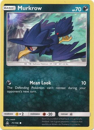Murkrow - 71/156 - Ultra Prism - Card Cavern