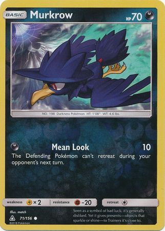 Murkrow - 71/156 - Ultra Prism - Reverse Holo - Card Cavern