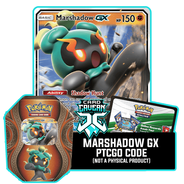 Mysterious Powers Tin: Marshadow GX - Shadow Strike Deck - PTCGO Code - Card Cavern